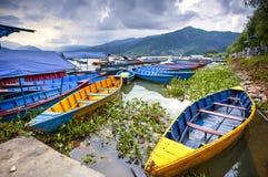 Het Meer van Phewa, Pokra, Nepal Stock Foto