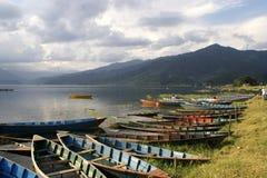 Het Meer van Phewa, Pokra, Nepal Stock Afbeelding