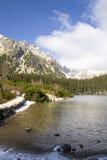 Het meer van Poprad Stock Foto's