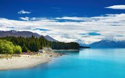 Het meer van Pukaki, Nieuw Zeeland Stock Foto