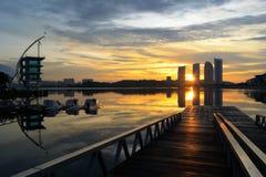 Het Meer van Putrajaya Royalty-vrije Stock Foto