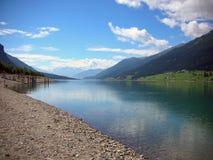 Het meer van Resia Stock Afbeeldingen