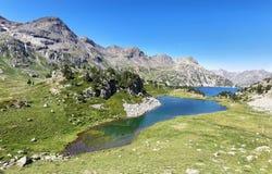Het meer van Respomuso van het Ranasmeer iand in Tena Valley in de Pyreneeën, Huesca, Spanje royalty-vrije stock foto