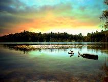 Het meer van Saranac Stock Foto's