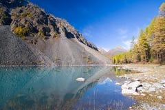Het meer van Shavlinskoe stock afbeelding