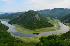 Het meer van Skadar in montenegro royalty-vrije stock afbeeldingen