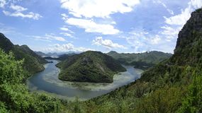 Het meer van Skadarsko in Montenegro Royalty-vrije Stock Foto's