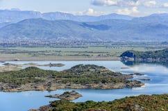 Het meer van Slansko, Montenegro Stock Fotografie
