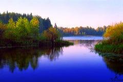Het meer van Sunrize Stock Fotografie