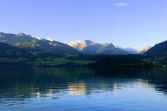 Het meer van Thun Stock Afbeelding