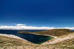 Het meer van Titicaca, Bolivië, Isla del Sol landschap Royalty-vrije Stock Fotografie