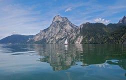 Het meer van Traunsee Stock Foto