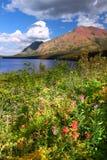 Het Meer van twee Geneeskunde in Montana stock afbeeldingen