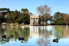 Het meer van villaborghese in Rome Stock Foto