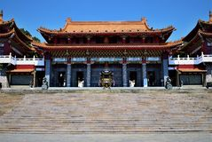 Het Meer Wen Wu Temple, Taiwan van de zonmaan stock foto's