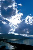 Het meer zijlandschap van Li Mu royalty-vrije stock foto