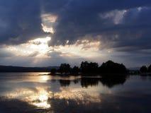 Het meer Zweden van Siljan stock afbeeldingen