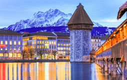 Het meer Zwitserland van Luzern Royalty-vrije Stock Foto's