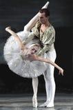 Het meerballet van de zwaan dat door Russisch koninklijk ballet wordt uitgevoerd stock fotografie