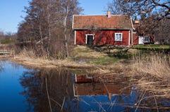 Het meerhuis Royalty-vrije Stock Foto's