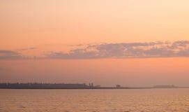 Het meerkleuren van de zonsopgang Stock Afbeeldingen