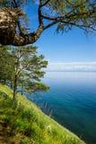 Het meerkust van Baikal Stock Foto