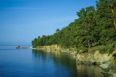 Het meerkust van Baikal Stock Afbeelding