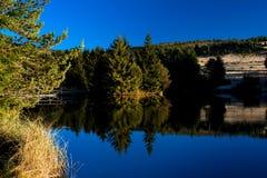 Het meerkust van de berg Royalty-vrije Stock Foto's