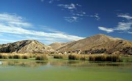 Het meerlandschap van Titicaca royalty-vrije stock foto