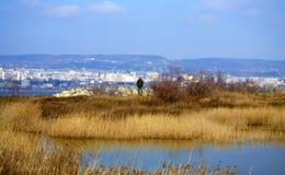 Het meermening van Varna, Bulgarije stock afbeelding