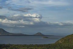 Het meerpanorama van Managua ` s Stock Foto
