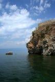 Het meerscène van Ohrid royalty-vrije stock foto