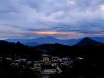 Het Meerzonsopgang van de zonmaan Royalty-vrije Stock Foto's