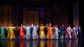 Het meespelen van de Keizerinnen van het gordijn vraag-moderne drama in het Paleis Royalty-vrije Stock Foto's
