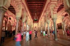 Het meest forrest van pijlers in de grote Moskee in Cordoba, Spanje royalty-vrije stock fotografie