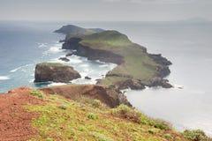 Het meest oostelijke deel van het Eiland van Madera, Portugal Stock Foto's