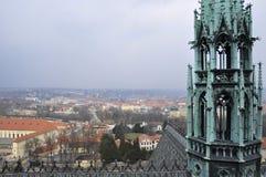 Het meesterwerk van Europese Gotische architectuur is St Vitus Cathedral, de bouw van wie bijna 600 y werd uitgevoerd Royalty-vrije Stock Fotografie
