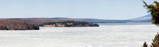 Het megantic panorama van de lak stock foto's