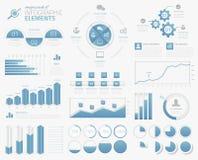 Het megapak infographic grafieken, grafieken, pastei, opteert royalty-vrije illustratie