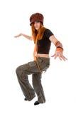 Het meisje breit binnen hoed Royalty-vrije Stock Fotografie