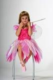 Het meisje dat van de fee grappig gezicht maakt Royalty-vrije Stock Foto
