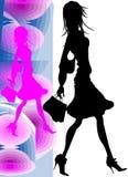 Het Meisje dat van Nice naar het winkelen gaat Stock Afbeelding
