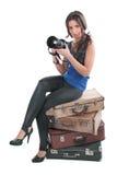 Het meisje de fotograaf Royalty-vrije Stock Afbeelding