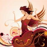 Het meisje in de hemel Stock Illustratie