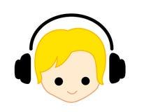 Het meisje/de jongen van de muziek Stock Foto's