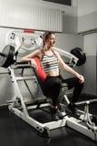 Het meisje in de sport van de de training gezonde levensstijl van het gymnastiekconcept Royalty-vrije Stock Afbeelding