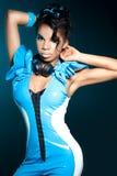 Het meisje DJ van de mulat Stock Afbeeldingen