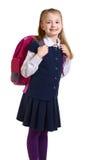 Het meisje in een eenvormige school royalty-vrije stock foto's