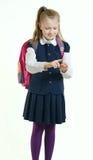 Het meisje in een eenvormige school royalty-vrije stock fotografie