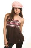 Het meisje in een GLB Stock Foto